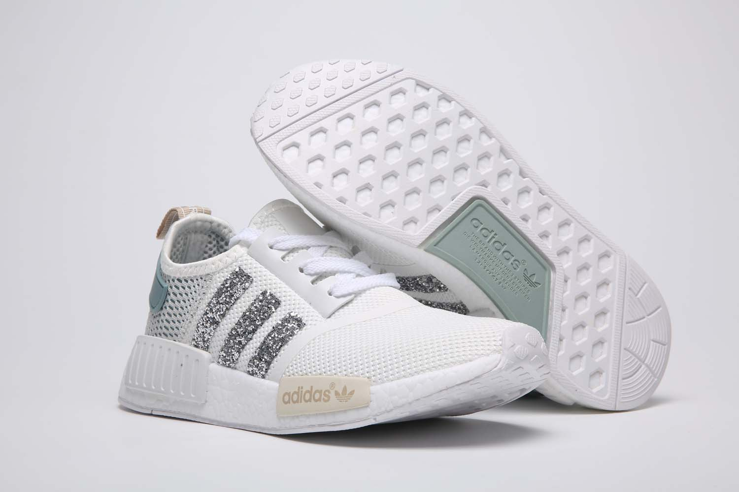 Adidas NMD white Sequins